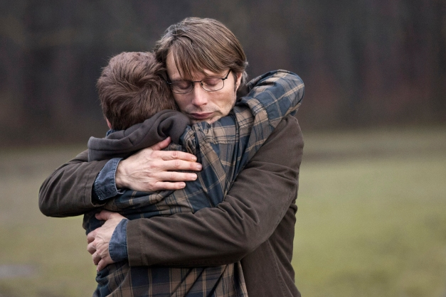 THE HUNT. Mads Mikkelsen and Lasse Fogelstrøm